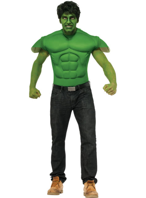 Marvel Hulk muscular tshirt for an adult