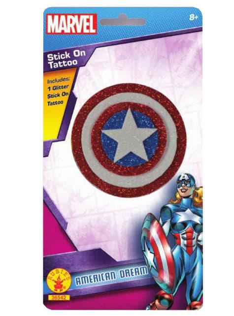 Tatuaje del Capitán América Marvel para niña