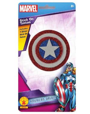Glitter tatoeage American Dream Marvel voor meisjes