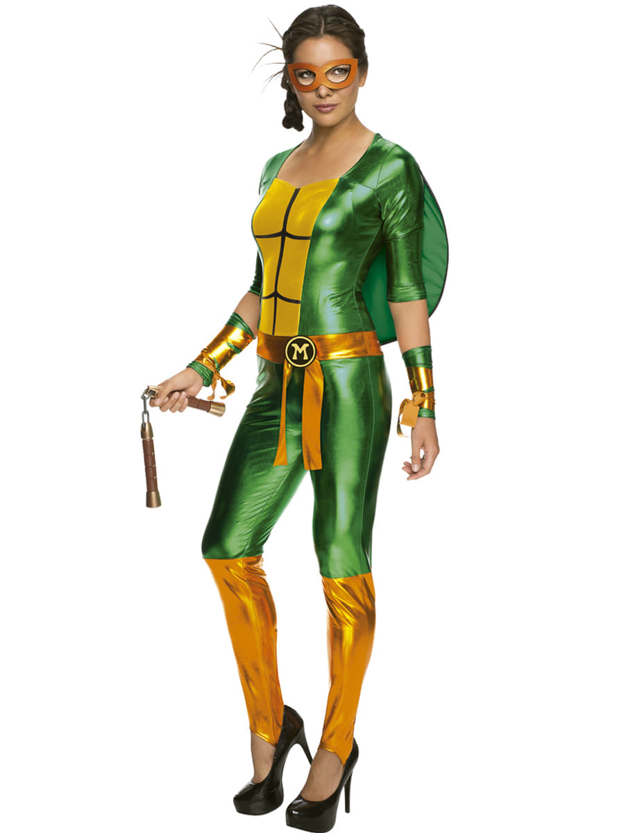 Costume michelangelo sexy les tortues ninja femme funidelia - Michaelangelo tortue ninja ...