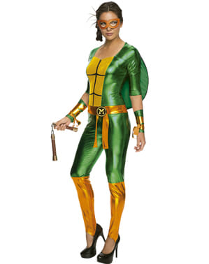 Womens sexy Michelangelo Teenage Mutant Ninja Turtles costume