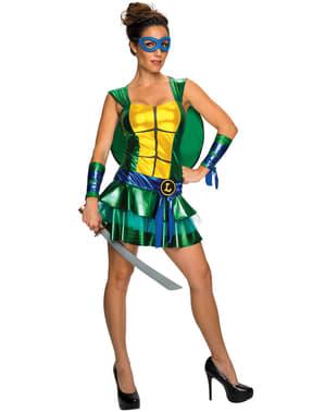 Kostium Leonardo Wojownicze Zólwie Ninja sexy damski