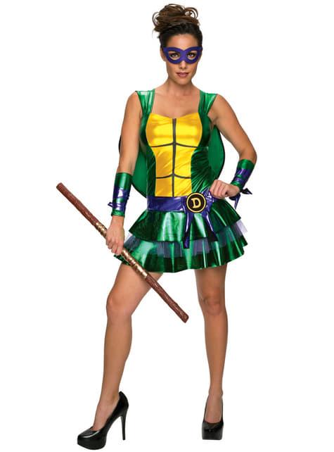 Womens sexy Donatello Teenage Mutant Ninja Turtles costume