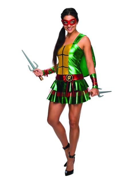 Jurk kostuum Raphael The Ninja Turtles voor vrouw