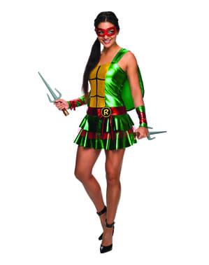 Raphael Kostüm für Damen sexy Ninja Turtles Classic