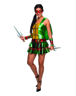 Womens sexy Raphael Teenage Mutant Ninja Turtles costume