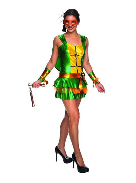Disfraz de Michelangelo Las Tortugas Ninja para mujer