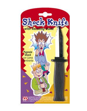 Cuchillo retráctil de asesino de broma