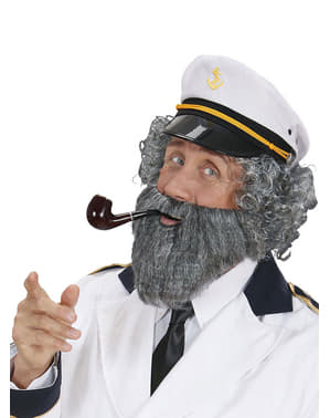Grey sailor beard with moustache for a man