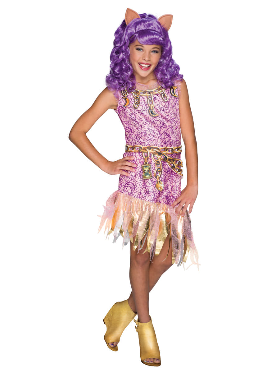 Clawdeen wolf monster high costume for a girl express - Clawdeen wolf pyjama party ...