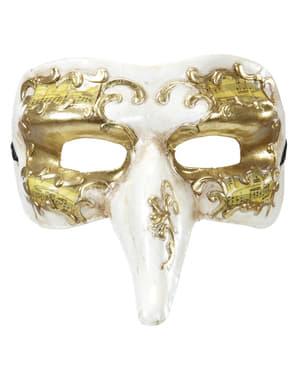 Maska pro muže s nosem zdobená