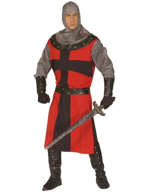 Fato de cavaleiro medieval para homem tamanho grande
