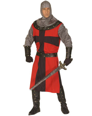 Costume da cavaliere medievale da uomo taglie forti