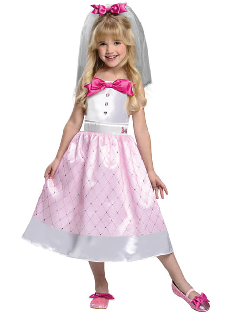 Barbie Bride costume for a girl