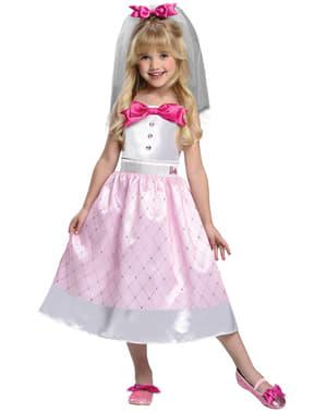 Disfraz de Barbie Novia para niña