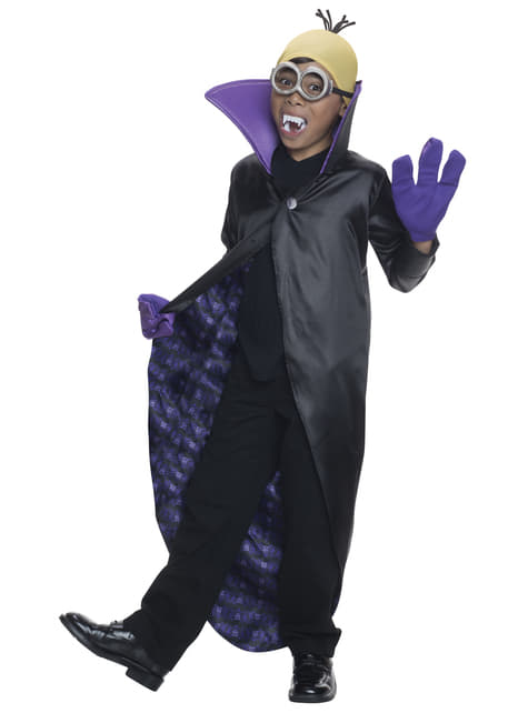 Disfraz de Drácula Minions para niño