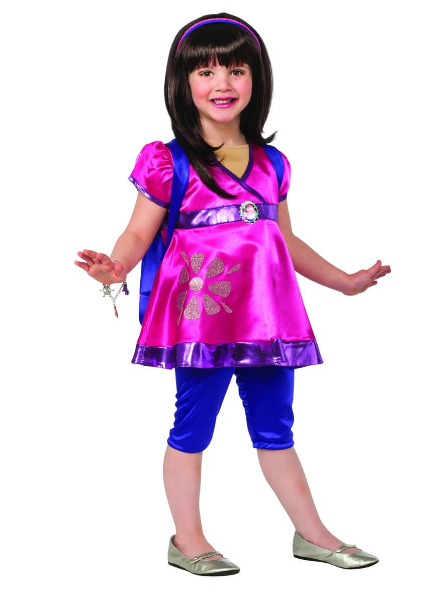Disfraz de Dora y sus amigos deluxe para niña. Entrega rápida ...