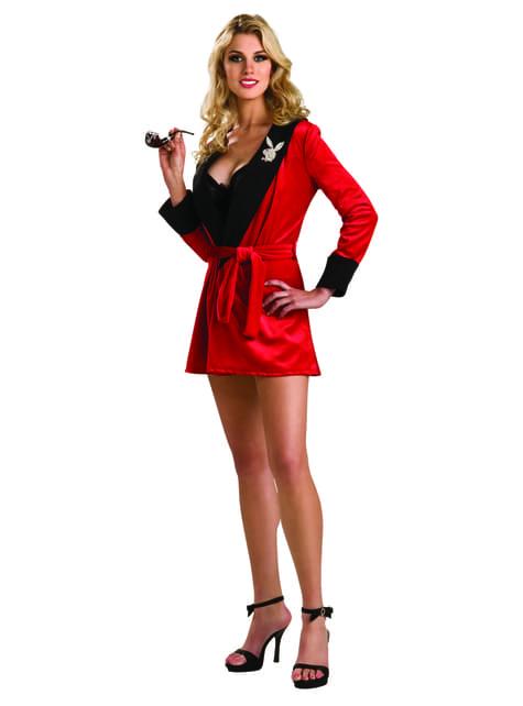 Disfraz de novia roja Playboy para mujer
