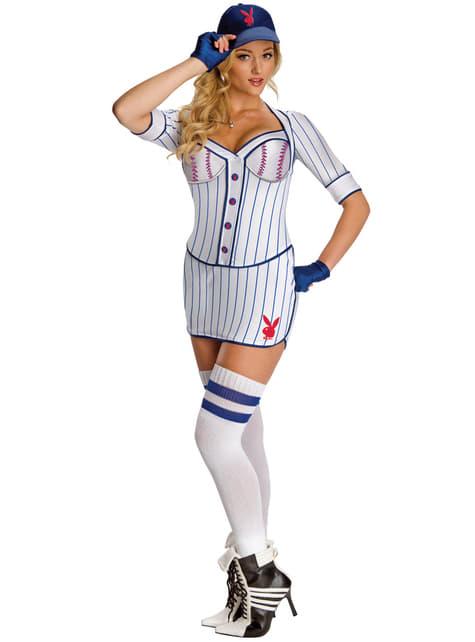 Disfraz de jugadora de béisbol Playboy para mujer
