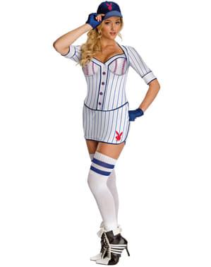 Fato de jogadora de beisebol Playboy para mulher