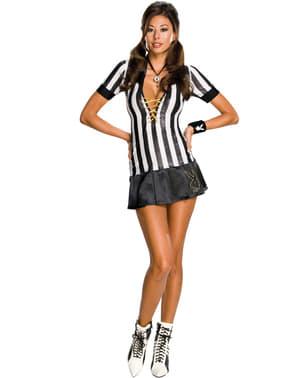 Disfraz de árbitro Playboy para mujer