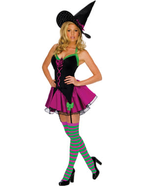 Playboy shiny witch costume for a woman