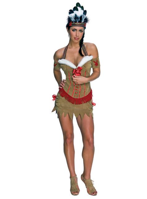 女性のためのプレイボーイアメリカンインディアン衣装