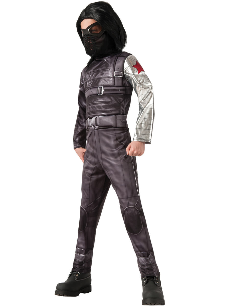 Costume Soldat D Hiver Deluxe Captain America Le Soldat De L Hiver Enfant Funidelia
