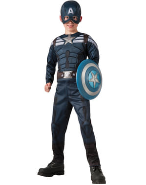 Captain America Vintersoldat Tosidig 2 i 1 Kostyme Barn