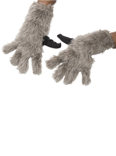 Rocket Racoon Guardians of the Galaxy gloves for an adult