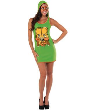 महिला माइकल एंजेलो किशोर उत्परिवर्ती निंजा कछुए पोशाक