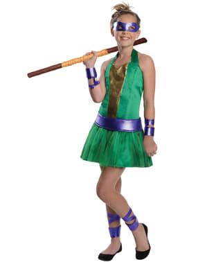 Teenage Mutant Ninja Turtles Donatello kostume til piger