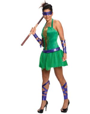 Sieviešu Donatello pusaudžu mutantu Ninja Turtles kostīms