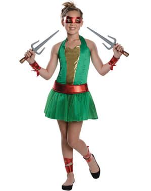 Raphael Kostüm für Mädchen Ninja Turtles