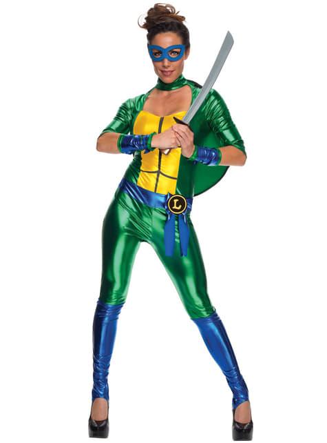 Leonardo Kostüm für Damen sexy Ninja Turtles