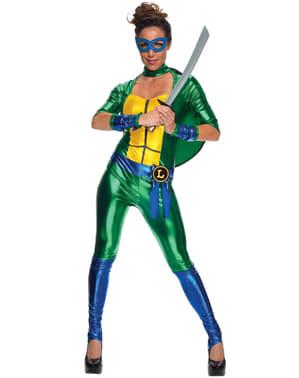 Kostium Leonardo sexy Wojownicze Zólwie Ninja damski