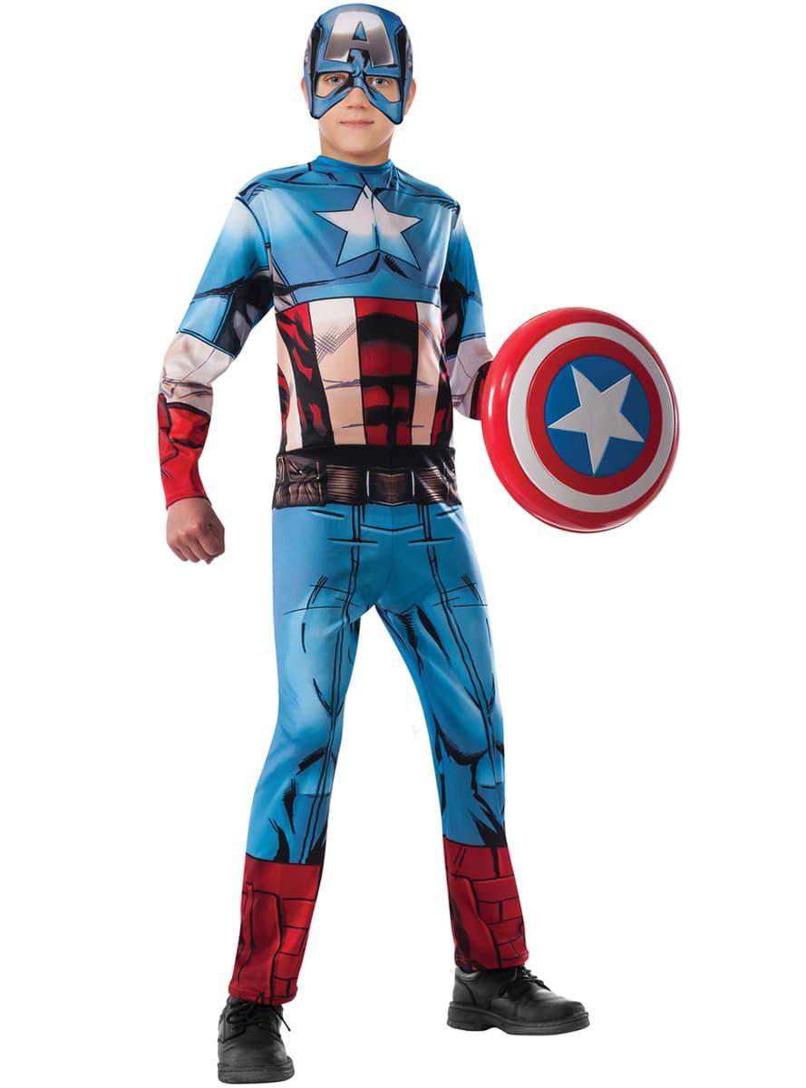 captain america kost m f r jungen marvel die r cher. Black Bedroom Furniture Sets. Home Design Ideas