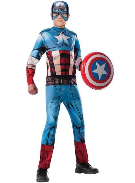 Disfraz de Capitán América Marvel Vengadores para niño
