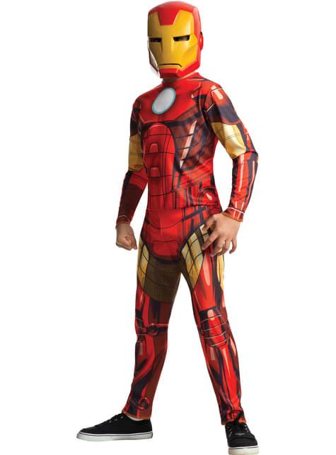 Fato de Homem de Ferro Marvel dos Vingadores para menino