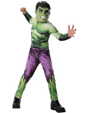 Fato do Incrível Hulk Marvel dos Vingadores para menino