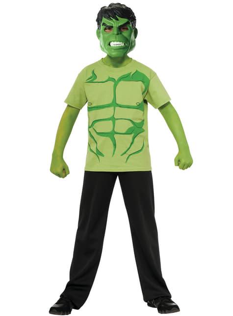 Kit costum Hulk Marvel pentru băiat