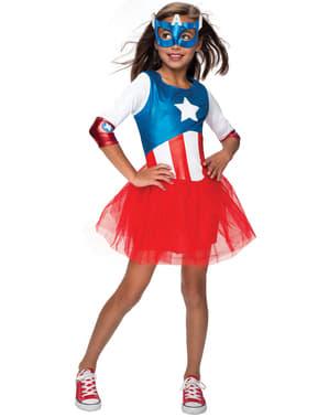 Costum Căpitanul America tutu Marvel pentru fată