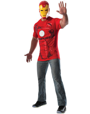 Kit costum Iron Man Marvel pentru adult
