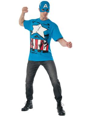 Kit disfraz del Capitán América cómic para adulto