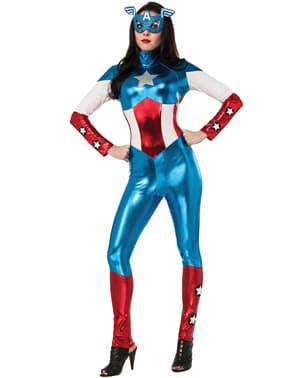 Prekrásny kostým amerického sna pre ženu