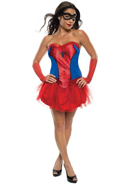 Marvel Hämähäkkityttö klassikko-asu naisille