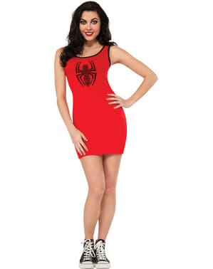 Marvel Spidergirl Rød Kjole Kostyme for Dame