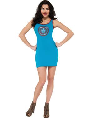 Marvel Kaptein Amerika kjole kostyme til dame