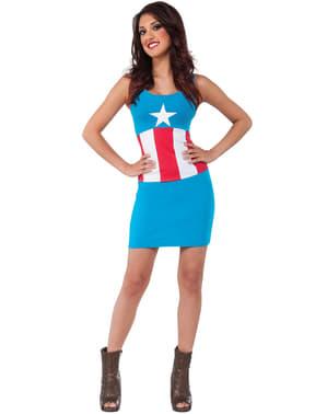 Rochie costum Căpitanul America Marvel classic pentru femeie