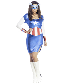 Captain America classic dress costume for a woman  sc 1 st  Funidelia & Captain America Costumes . Express delivery | Funidelia